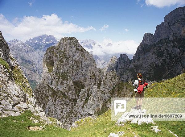 Landschaftlich schön  landschaftlich reizvoll  Berg  sehen  über  Europa  wandern