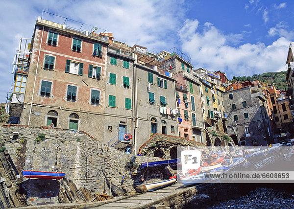 The Village Of Riomaggiore.