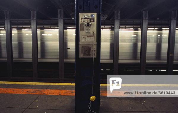 Phone In New York's Subway