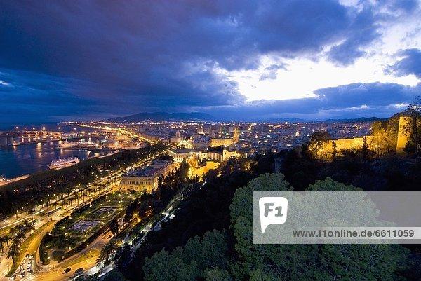 Abenddämmerung , Malaga