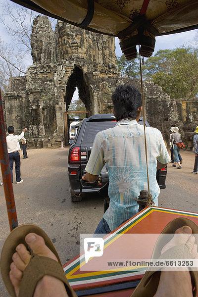 Auto  Angkor  Kambodscha  Rikscha  Siem Reap