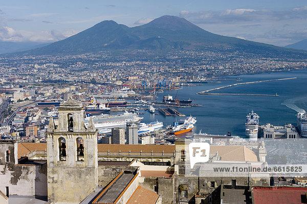 Naples  Cityscape  Vesuvius  Italy © Charles Bowman/Axiom