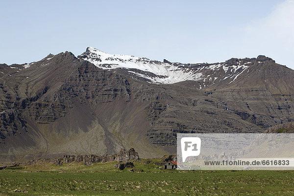 Gehöft in Ostisland  Höfn  Ostisland  Island  Europa