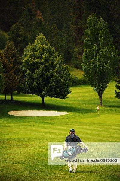 gehen  Golfspieler  Kurs