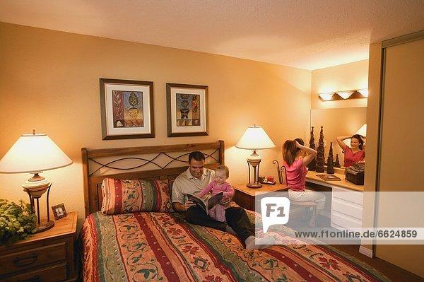 Family In Hotel Room