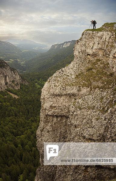 Europäer  Mann  Fotografie  nehmen  Ecke  Ecken  Steilküste