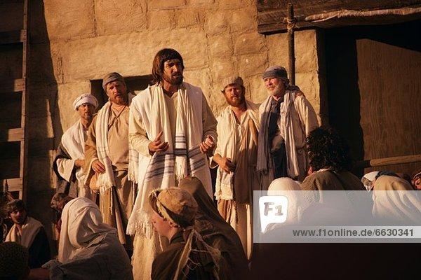 sprechen Jesus Christus Menschenmenge