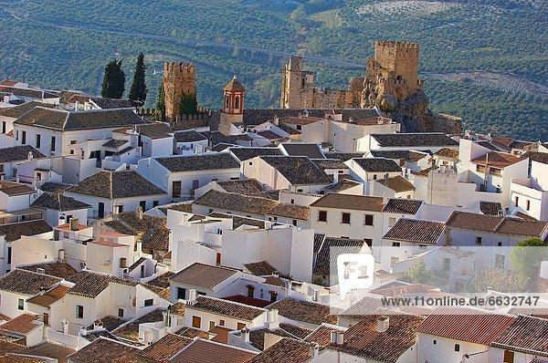 Castle  Zuheros  Sierra de la Subbetica  Cordoba  Andalusia  Spain
