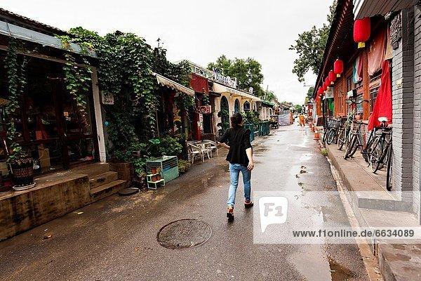 Frau  modern  gehen  kaufen  reparieren  Peking  Hauptstadt  Zimmer  China  Ortsteil