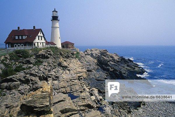 Vereinigte Staaten von Amerika USA Cape Elizabeth Maine Portland Head Lighthouse