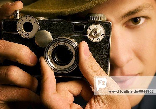Mann  Fotografie  nehmen