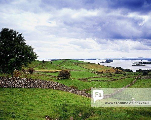 entfernt Landschaft County Galway Irland