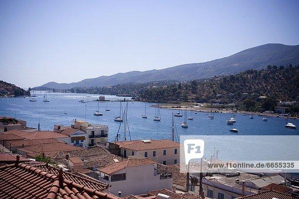 Poros Island  Saronic  Greece