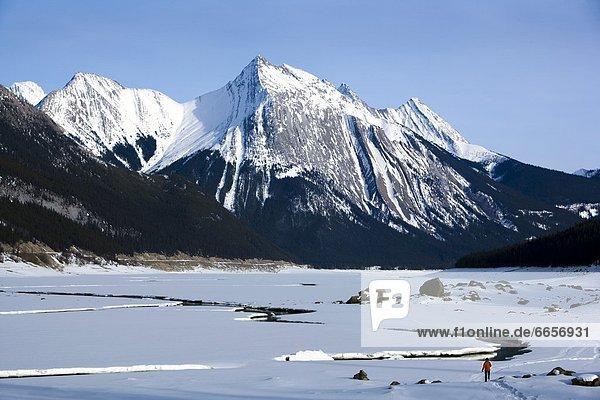 Berg  Gesundheitspflege  See  Maligne Lake  Alberta  Kanada