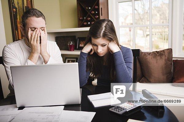 Finanzen  Streß  jung