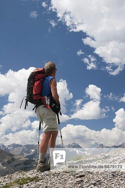 Berg  Mann  sehen  Ansicht