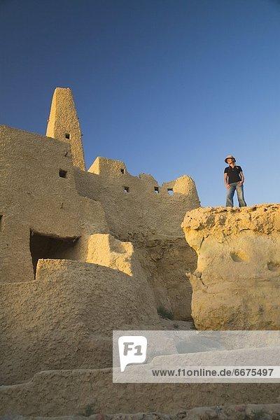 Frau , Tourist , Ägypten , Oase