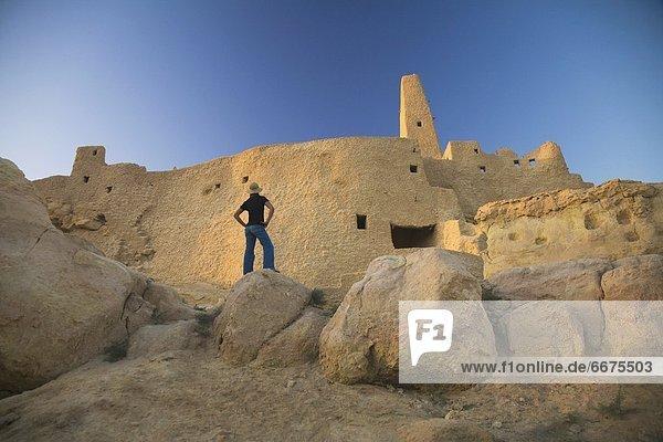 Frau  Tourist  Ägypten  Oase