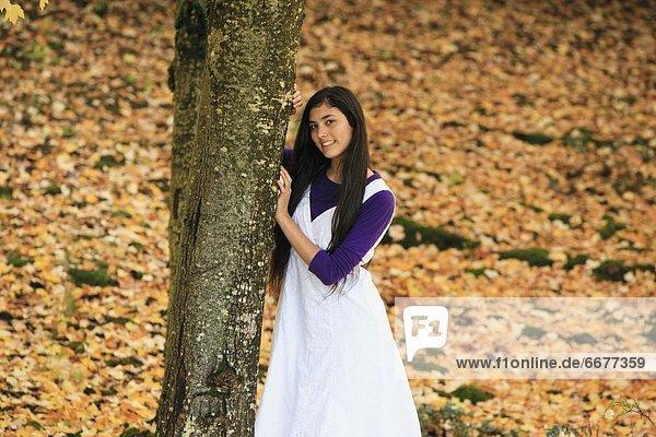 Portrait  Jugendlicher  Herbst  Mädchen