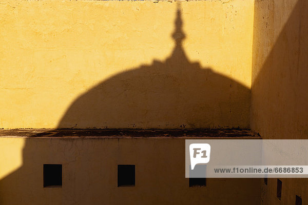 Shadow Cast on the Amber Fort