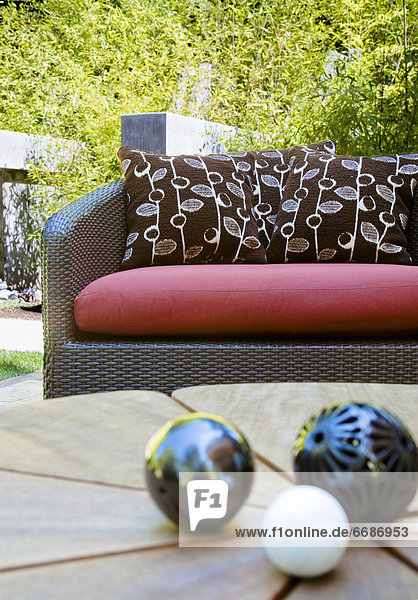 Outdoor Sofa and Decoration