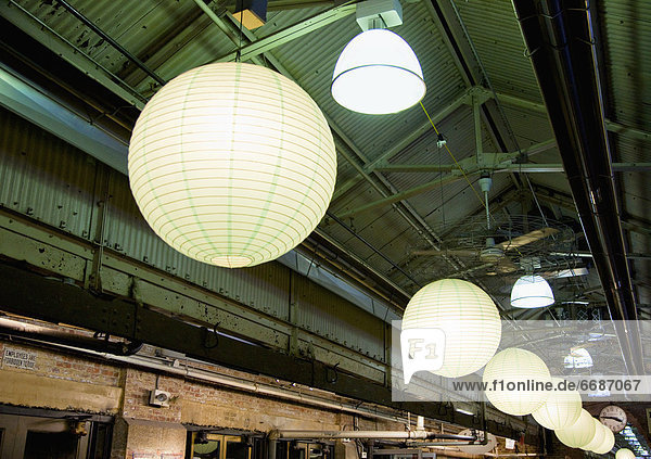 Lanterns in an Industrial Building