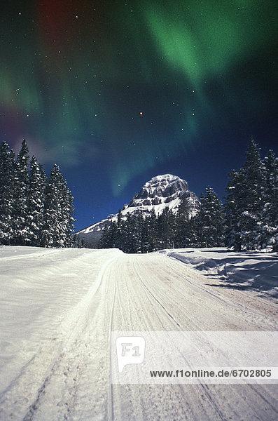Berg  Polarlicht
