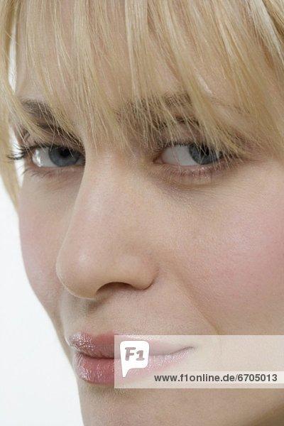 Frau  sehen  Close-up  close-ups  close up  close ups  Seitenansicht