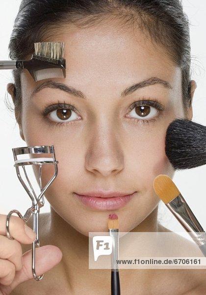 Frau  Kosmetik  Größe  Werkzeug