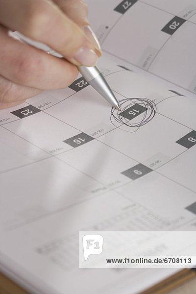 Frau  Tag  Markierung  Kalender