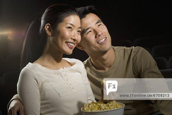 Paar einen Film