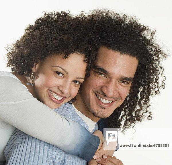 Porträt von ein glückliches paar