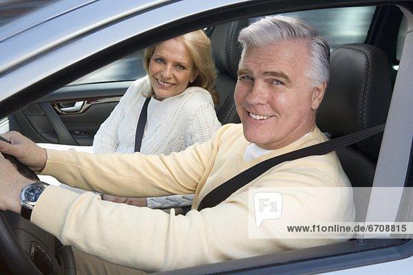 Senior Senioren Auto fahren