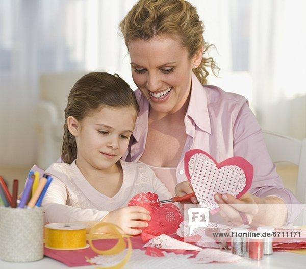 Produktion  Valentinstag  Tochter  Mutter - Mensch
