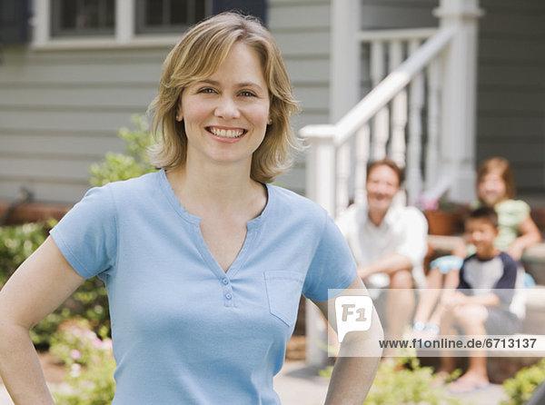 Portrait Frau Hintergrund