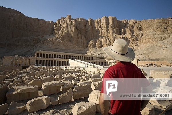 'Man Looking At The Temple Of Hatshepsut