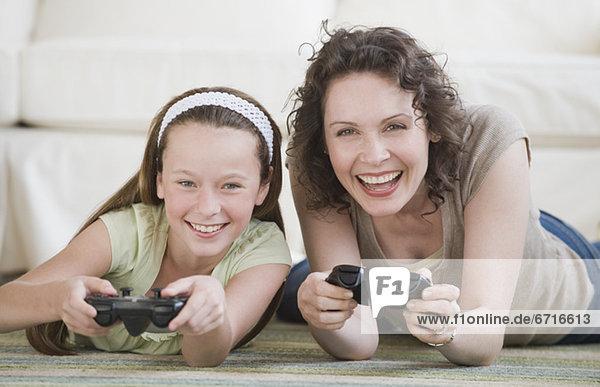Spiel Camcorder Tochter Mutter - Mensch spielen