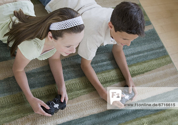 Bruder Schwester Spiel Camcorder spielen