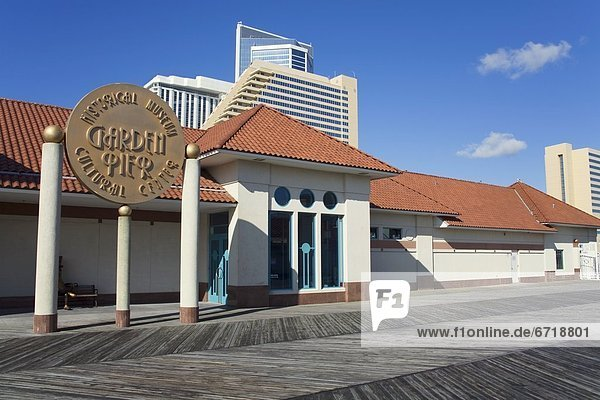 Historical And Cultural Center On Garden Pier  Atlantic City  New Jersey  Usa