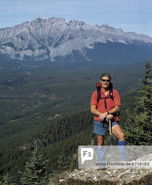 Hiking In The Rocky Mountains  Canmore  Alberta  Canada