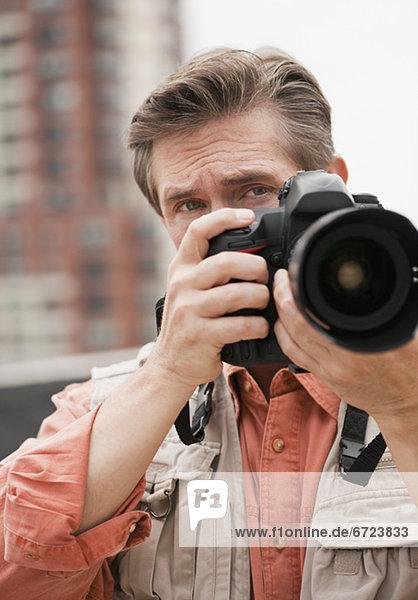 Mann machen ein Foto