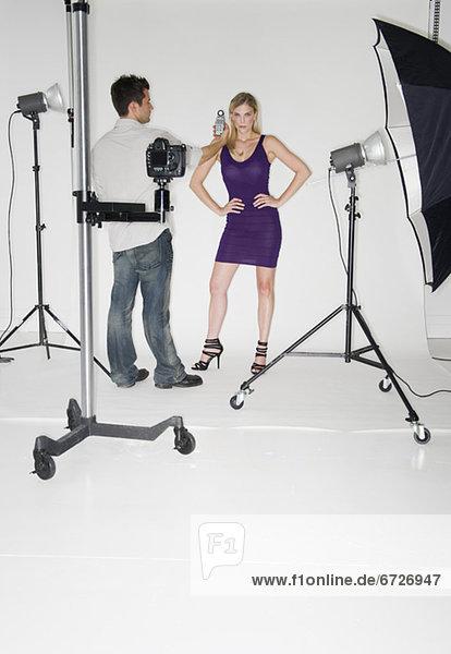 Fotografie  nehmen  Modell  Fotograf  Studioaufnahme