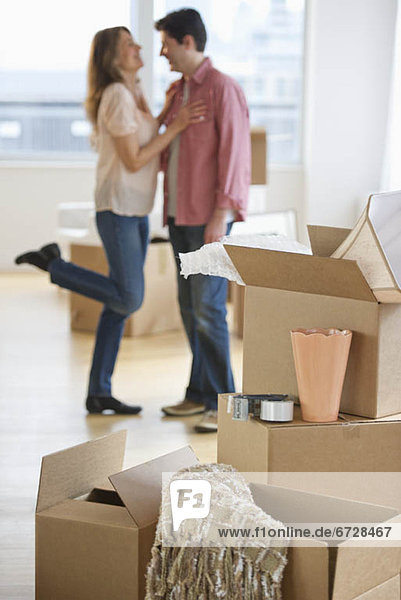 Vereinigte Staaten von Amerika USA nahe umarmen Eigentumswohnung neues Zuhause