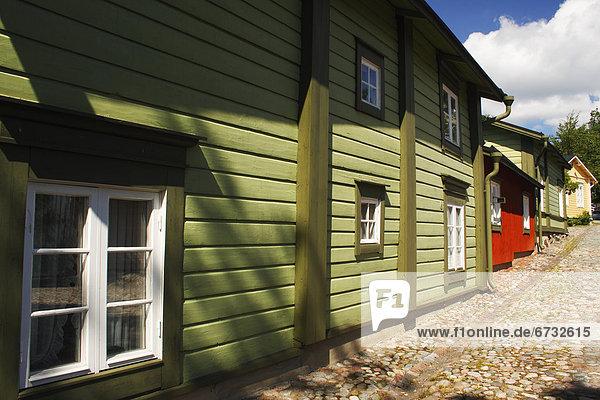 Stadt Blockhaus alt Holzhäuser