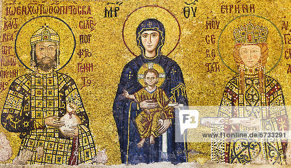 Truthuhn  halten  Jesus Christus  Regenwald  Jungfrau Maria  Madonna  Istanbul  Mosaik  Türkei