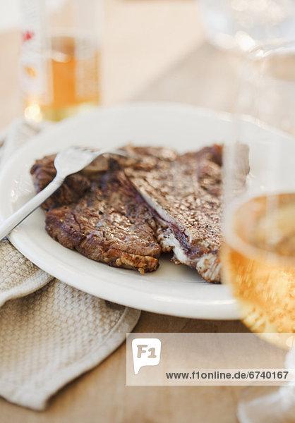 Steak  Bier