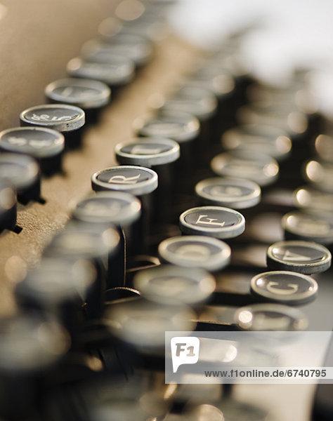 Retro  Schreibmaschine  Schlüssel