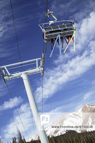 Stuhl  heben  Himmel  blau  Ski  Kanada