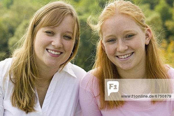 Portrait von Schwestern