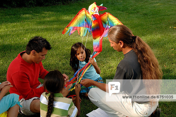 Family with Kite